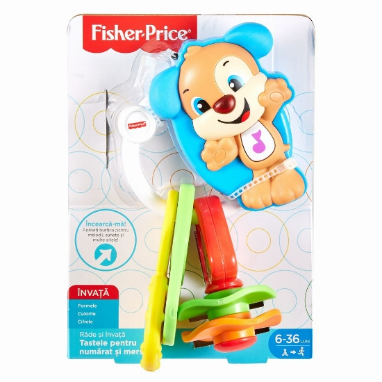Imagine CHEI BEBE CU SUNETE LIMBA ROMANA FISHER PRICE