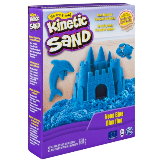 Imagine KINETIC SAND DELUXE CULORI ALBASTRU NEON 680GRAME