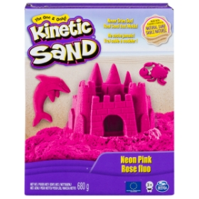 Imagine KINETIC SAND DELUXE CULORI ROZ NEON 680GRAME
