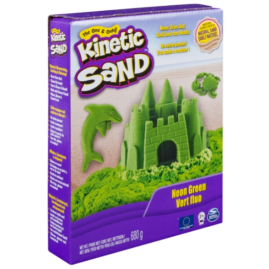 Imagine KINETIC SAND DELUXE CULORI VERDE NEON 680GRAME