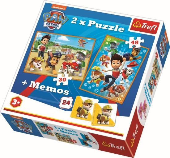 Imagine PUZZLE TREFL 2IN1 MEMO PATRULA CATELUSILOR
