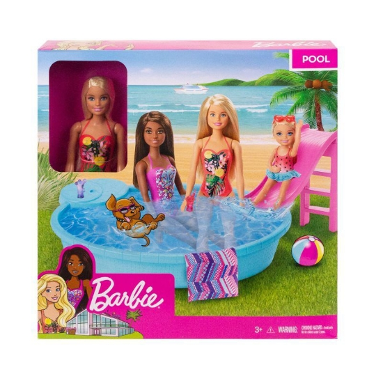 Imagine BARBIE SET PAPUSA CU PISCINA