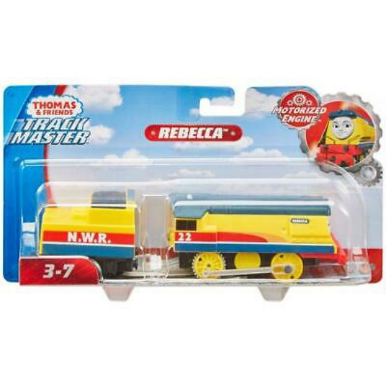 Imagine THOMAS TRACKMASTER LOCOMOTIVA REBECCA CU VAGON