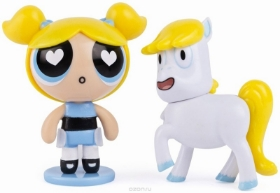 Imagine POWERPUFF GIRLS SET 2 FIGURINE BUBBLES SI DONNY