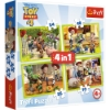 Imagine PUZZLE TREFL 4IN1 EROII TOYSTORY4 IN ACTIUNE