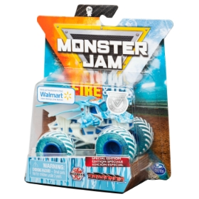 Imagine MONSTER JAM MASINUTA METALICA FIRE AND ICE BAKUGAN DRAGONOID