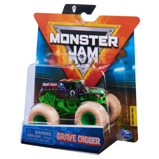 Imagine MONSTER JAM MASINUTA METALICA GRAVE DIGGER SCARA 1 LA 64