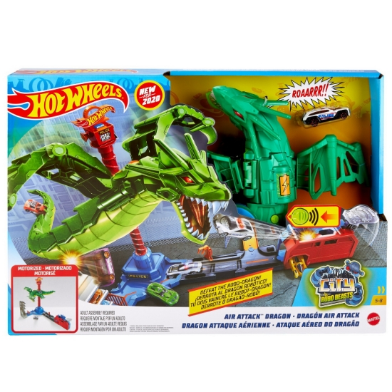 Imagine HOT WHEELS SET DE JOACA ATACUL DRAGONULUI