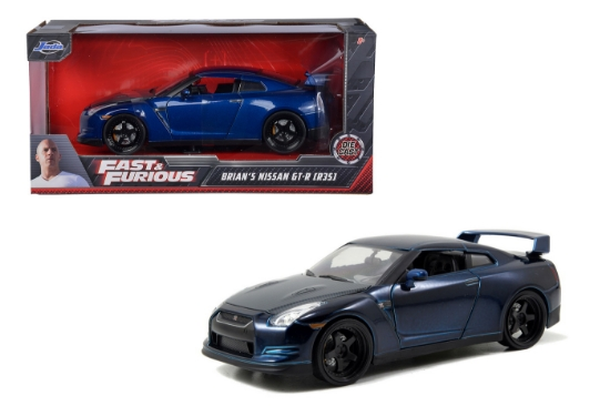 Imagine MASINUTA METALICA FAST AND FURIOUS 2009 NISSAN GT-R SCARA 1 LA 24