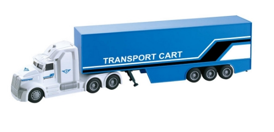 Imagine CAMION TIR TRANSPORT CART FRICTIUNE LUMINI SI SUNETE SCARA 1:50