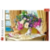 Imagine PUZZLE TREFL 1000 FLOWERS IN THE MORNING
